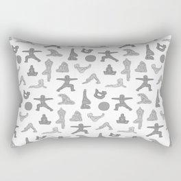 Grey Yoga Pattern Rectangular Pillow