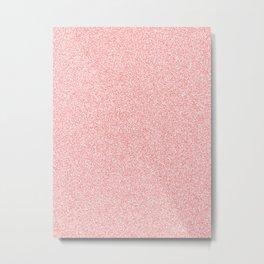 Melange - White and Coral Pink Metal Print