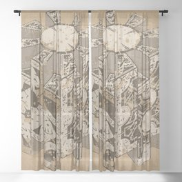 Hellraiser Puzzlebox C Sheer Curtain