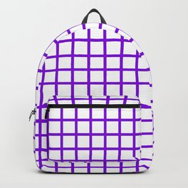 Grid (Violet & White Pattern) Backpack