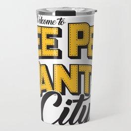 Welcome to Pee Pee Pants City (The Walking Dead) Travel Mug