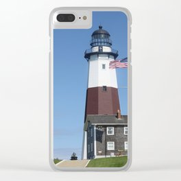 Montauk Lighthouse Clear iPhone Case