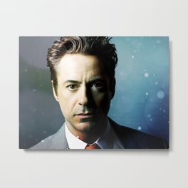 Robert Downey Jr 001 Metal Print
