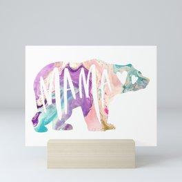 Mama Bear Boho Purple Watercolor Mini Art Print