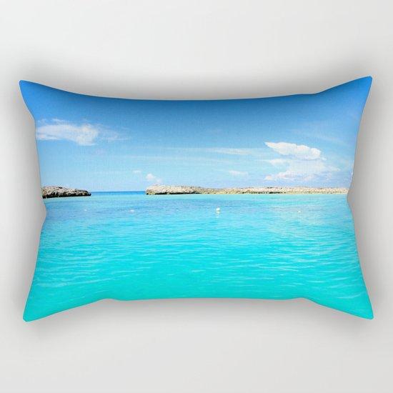 Aqua Water Rectangular Pillow