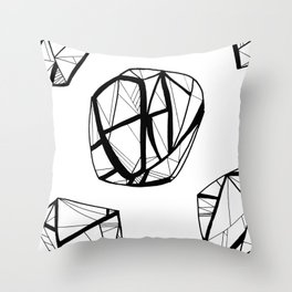 STRUCTURAL ORBES Throw Pillow