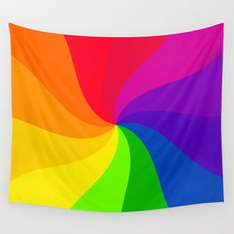 Color wheel pin wheel Wall Tapestry