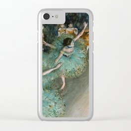 Degas - Swaying Dancer (Dancer in Green) Clear iPhone Case