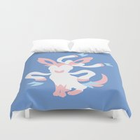 sylveon Duvet Covers featuring Sylveon by Polvo