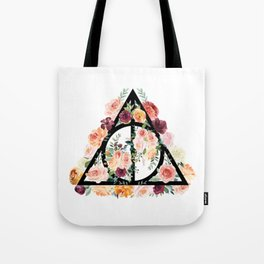 Watercolor Deathly Hallows Tote Bag