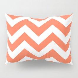 Outrageous Orange - orange color -  Zigzag Chevron Pattern Pillow Sham