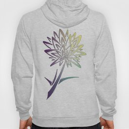 Purple Dandelion Flower Tattoo Hoody