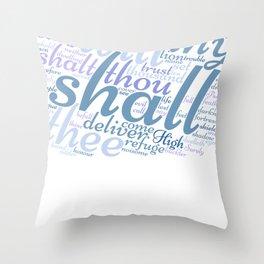 Christian Psalm 91 Word Art Throw Pillow