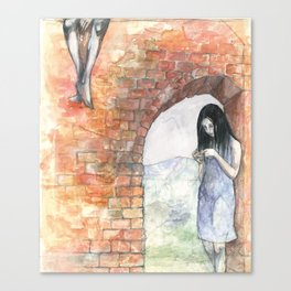 Mary at the Arch Canvas Print
