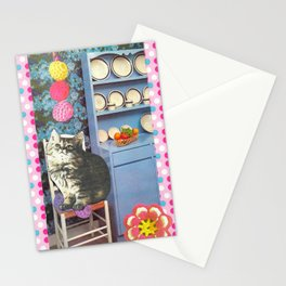 Ball Killer handcut collage Stationery Cards