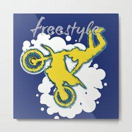 FMX Freestyle Motocross Metal Print