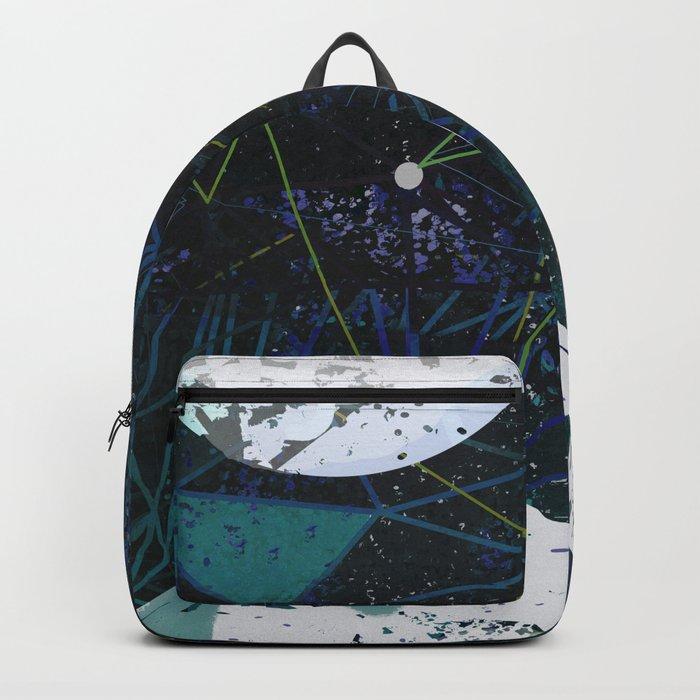winter geometry Backpack