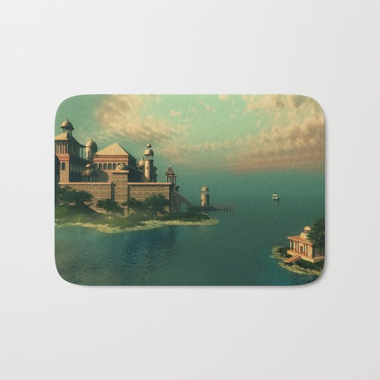 Mystic Fantasy Island Bath Mat