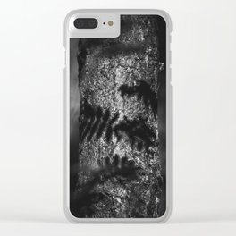 Nature Shots in Black and White.    Shadows. Forests.    Leaves.    Brunches.    Latvia.    Latvia Clear iPhone Case