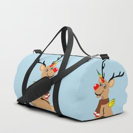 Red Nosed Unicorn Duffle Bag
