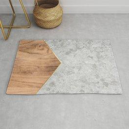 Geometric Concrete Arrow Design - Wood #345 Rug