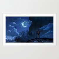 laputa Art Prints featuring Castle in the Sky by Chibionpu