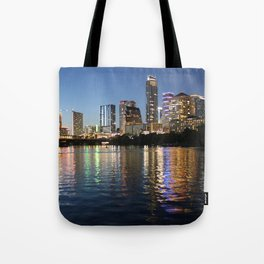 Austin, Texas skyline - city lights Tote Bag