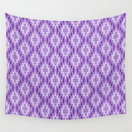 Diamond Pattern in Purple and Lavender Wall Tapestry
