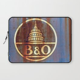 Rusty Railroad Sign Laptop Sleeve
