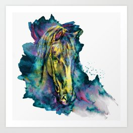 Horse Chained Beauty Art Print