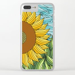 SUNNY DAY (abstract flowers) Clear iPhone Case