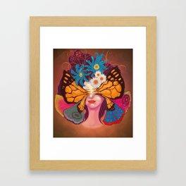 Madame Papiyon Framed Art Print