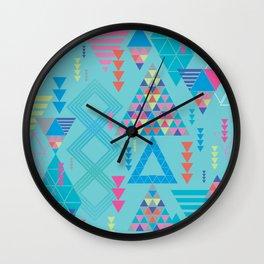 GeoTribal Pattern #010 Wall Clock