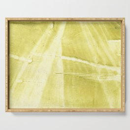 Yellow green abstract Serving Tray