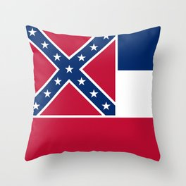 Mississippi State Flag, Authentic Version Throw Pillow