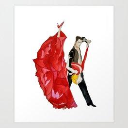 Tango (Watercolour) Art Print