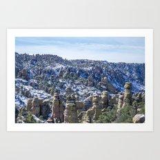 Snowy Chiricahua  Art Print