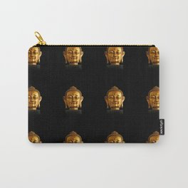 Budhha Golden Head by Lika Ramati Carry-All Pouch