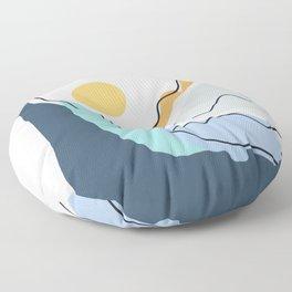 Minimalistic Landscape II Floor Pillow