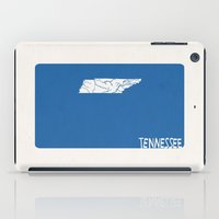 tennessee iPad Cases featuring Tennessee Minimalist Vintage Map by Finlay McNevin