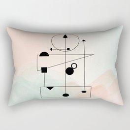 Geometric Scandinavian Design Pastel Colors Rectangular Pillow