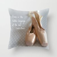 ballet Throw Pillows featuring Ballet by DuniStudioDesign