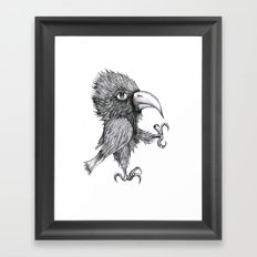 Grouchy Bird Framed Art Print