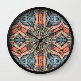 Autumn Leaves Mandala Wall Clock