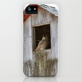 Greathorned in the barn iPhone Case