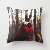 lost in translation Throw Pillows featuring lost in translation  by Sam Marie English