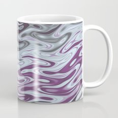 Ripples Fractal in Muted Plums Coffee Mug