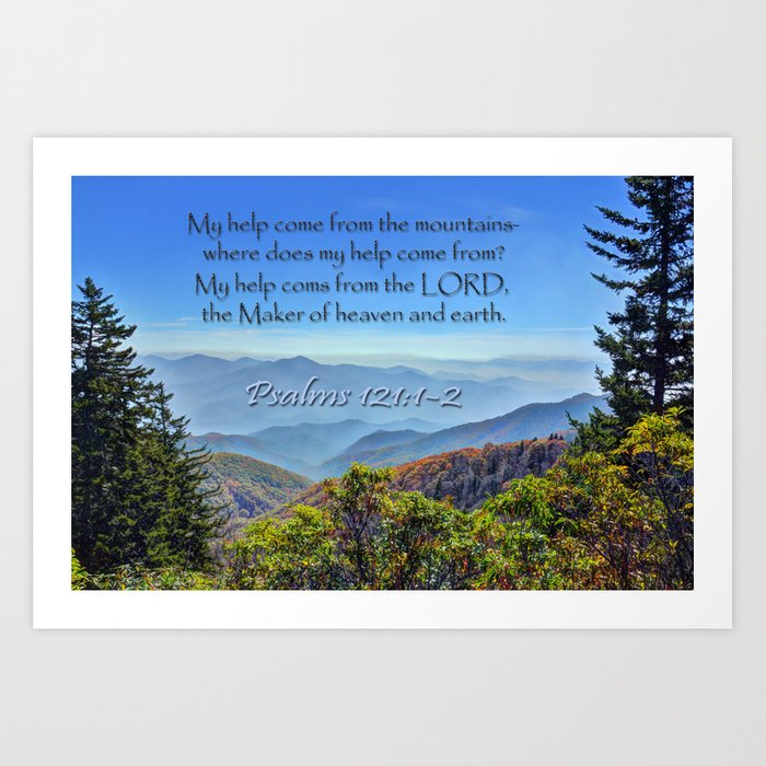 Psalms 121:1-2 Art Print