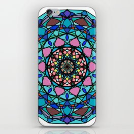 Round ornament in ethnic style iPhone Skin