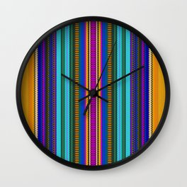 Serape Gold Wall Clock